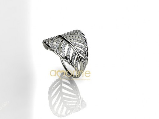 anel leaf diamond 3